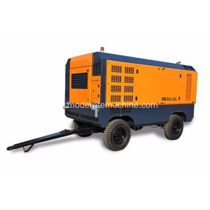 Tekanan Tinggi Diesel Movable Screw Air Compressor