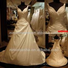 Q-6268 Sweetheat Appliques Vestido de casamento Vestido de noiva de tafetá Empire 2012