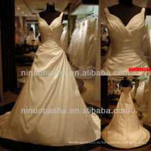 Вопрос-6268 Моя Дорогая Свадебное Платье Аппликации Тафта Империя Свадебное Платье 2012 Свадебные