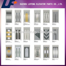 Mirror Etching Golden Stainless Steel Door Panel for elevator/ Elevator Parts