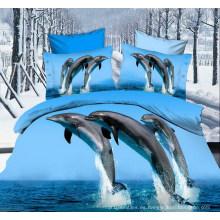 La venta caliente 3D dispersó la tela impresa de la microfibra para Bedsheet