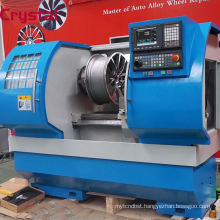 Alloy wheel polishing machine. Taian Crystal Lathe AWR2840