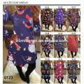 2017 nuevas señoras de la manera del diseño ropa de la Navidad diaria del vestido de las mujeres ocasionales