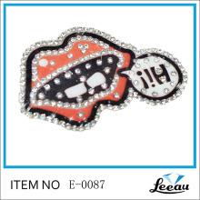 Rhinestone Iron On Brand Logo Patches
