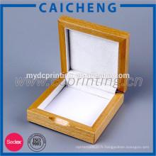 Boîte à bijoux luxueuse en bois brut