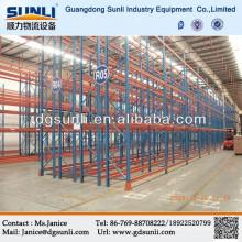 Serviço pesado duplo armazenamento profunda armazém metal porta palete