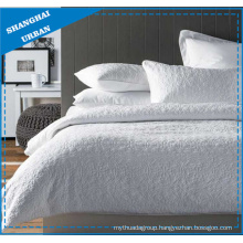 3 Pieces Pure White Ultrasonic Bedspread Quilt
