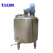 Tanque de mezcla de camisa de acero inoxidable de calentamiento electrónico con tanque mezclador con agitador