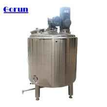 Tanque de mistura de mistura Jacketed de aço inoxidável do tanque do aquecimento eletrônico com agitador