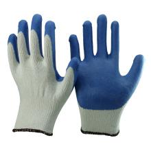 NMSAFETY 10 калибровочных натуральный поликоттон дешевые латекс покрытием верхней перчатки