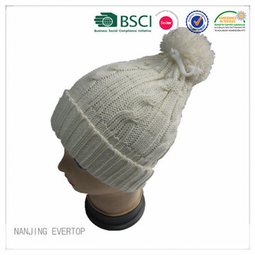 Ladies Cable Knit Winter Hat