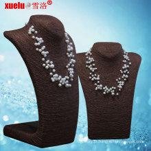 Moda estrela estilo multi-strands jóias colar de pérolas de água doce