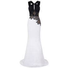 Kate Kasin Floor Length Backless Black And White Ball Gown Evening Prom Party Dress 8 Size US 2~16 KK000193-1