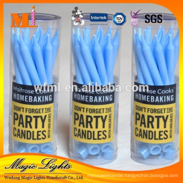 Thin pillar birthday candles with eco-friendly raw material
