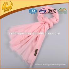 Neuer Entwurfs-Normaler rosafarbener heller Farben-Wolleschal, Wollschals Großverkauf