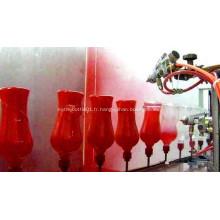 Ligne de pulvérisation automatique de bouteilles en verre