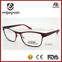 High quality fashion style full frame metal optical spectacles for woman