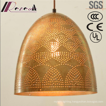 2017 New Design Gold Round Hollow Pendant Light with Restaurant
