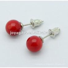 10MM Красный камень Gemstone Шипованные серьги