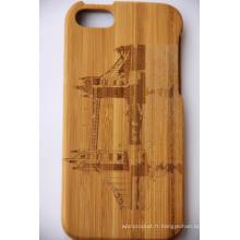 Flip En Bois Bois Dur Dos Housse Pour iPhone Bamboo Wood Cove