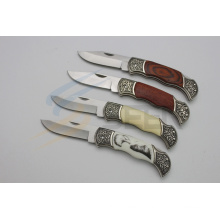 "7.5"" Folding Knife with Pattern Handle (SE-445)"