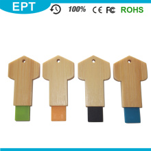 Bamboo Wooden Key Shape Custom Mini USB Flash Drive (TW062)