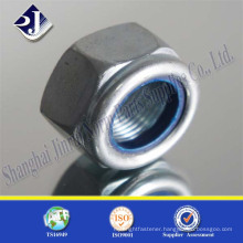 zinc plated DIN985 hex nylon nut