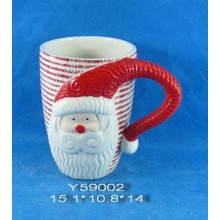 Ceramic Santa Mug for Christmas Decoration