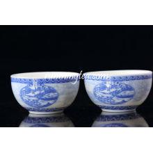 """Coupe de thé à la porcelaine au milieu """"Peinture de la scène Riverside à la Qingming Festival"""", 50 ml / tasse"""