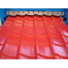 1100 máquinas de laminação de folha de telhado de telha revestida
