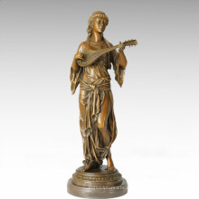 Tänzer Figur Statue Zigeuner Mädchen Bronze Skulptur TPE-288