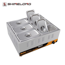 Shinelong Fabricación 2017 Precio al por mayor 1 3 6 Pans Calentador de Alimentos Eléctrico Buffet Bain Marie