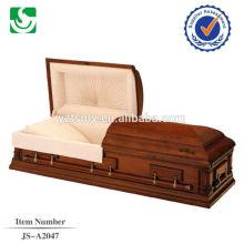 Cercueil en bois de style américain plain professionnel