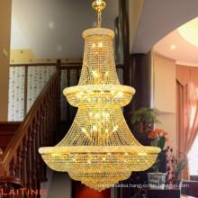 Foyer large chandelier k9 crystal chandelier lighting hotel chandelier lamp