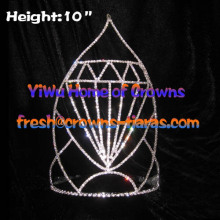 10inch Big Diamond Crystal Crowns
