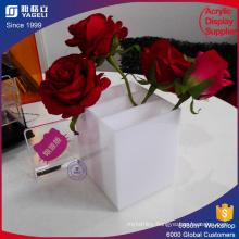 Waterproof White Rose Packing Box Flowers Holder