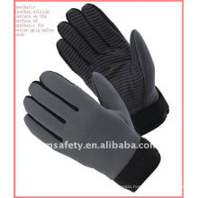 Auto mechanic anti slip gloves with silicon printing on palm ZM360-H