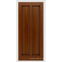 2015 más nuevo diseño inconcluso Mahagony puerta de madera maciza