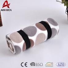 Manta de paño grueso y suave polar suave del modelo de punto de polca anti-pilling