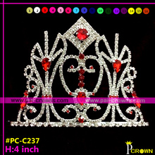 Red crystal tiaras and crowns for girls