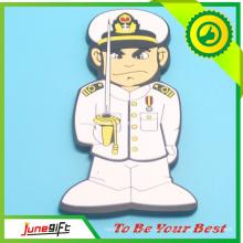 Polizist-Form-Großhandelsgewohnheit PVC-Magnet