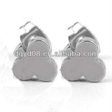 (WS3912)316L Нержавеющая сталь черный с золотым покрытием серьги стержня для мужчин