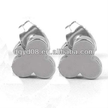 (WS3912) Acier inoxydable 316L Plaqué noir Boucle d'oreille pour les hommes