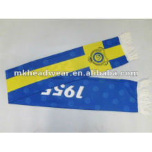 Cheap polyester football scarf/ fan scarf with all-over printing