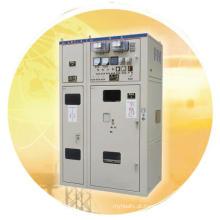 Aparelhagem elétrica fixa com painel metálico AC