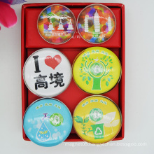 High Quality Clear Glass Pebble Fridge Magnet for Home Decoration