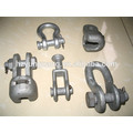 hot-dip galvanized shackle overhead lines fittings power pole accessories electric transmission line fitting