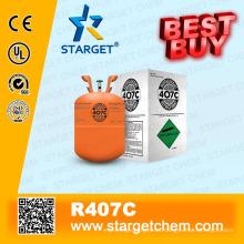 Refrigerante de alta pureza R407c mejor comprar en paquete neutro 11.3kg botella