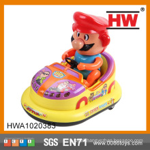 Hot Selling Plastic 18CM B/O Car with light and music bumper car toy