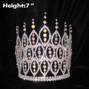 Coronas de concurso de espiga de diamante AB de 7 pulgadas
